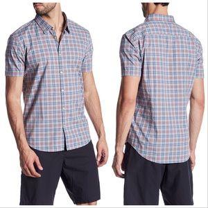 John Varvatos Plaid Short Sleeved Shirt
